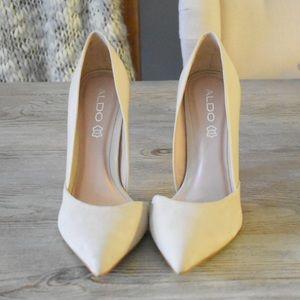 Aldo nude suede/leather heels